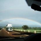 突然現れた二重の虹