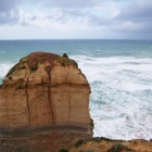 高波、強風の中での観光