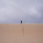 強風の砂漠