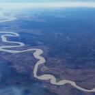 空から見たアデレードリバー。