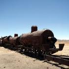 機関車の残骸