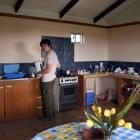 宿の共同キッチン