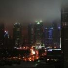 ホテルの部屋からの夜景