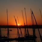 ナイル川の夕焼け