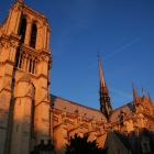 夕焼けのノートルダム大聖堂