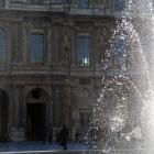 方形広場の噴水