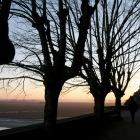 初日は夕日を眺めるだけ