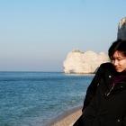 エトルタ海岸での和田さん