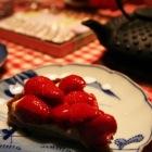 デザートは手作りのイチゴタルト