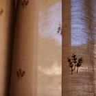 可愛い刺繍のカーテン