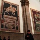 大きな騎馬肖像画