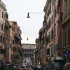 ローマの道を走っている途中