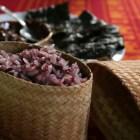 赤米のもち米と海苔