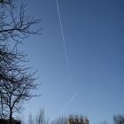 ユトレヒトの飛行機雲