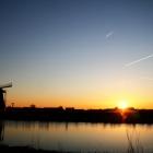 沈む夕陽が美しい