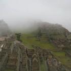 霧の中から徐々に姿を現してくれた空中都市