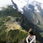 ワイナピチュの頂上からみた空中都市