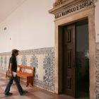講義室の入口