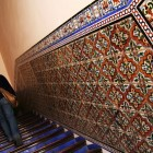 階段のタイルがきれい