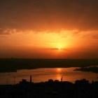 イスタンブールの綺麗な夕焼け