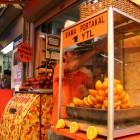 生絞りのオレンジジュース