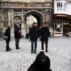 大聖堂の入口にて1