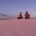 夕焼けの砂漠