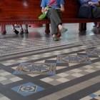 郵便局の床